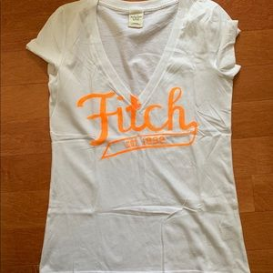 abercrombie and fitch white vneck